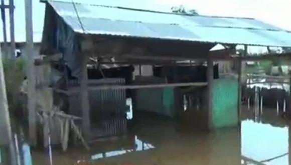 Loreto: fuertes lluvias inundaron decenas de viviendas en Yurimaguas