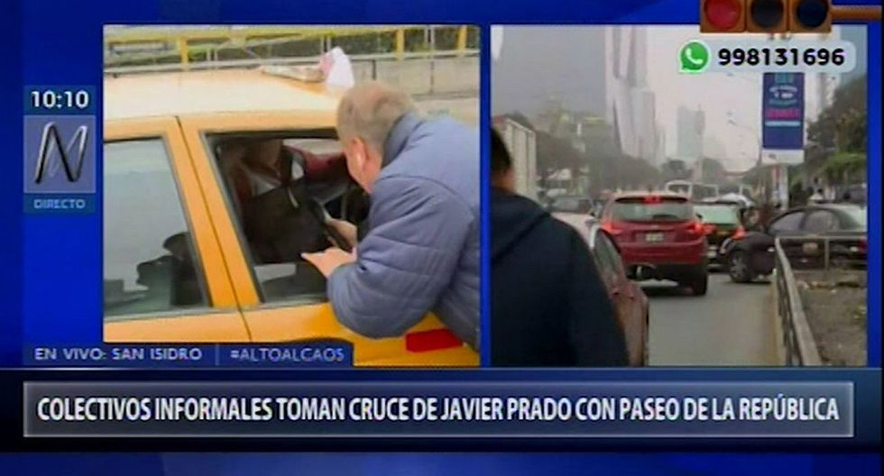 Vehículos informales no respetan 'pico y placa' y generan caos en Javier Prado (VIDEO)