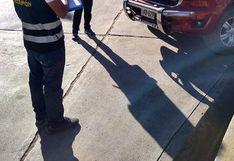 Policías intervienen camioneta del Gobierno Regional de Huancavelica