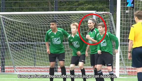 VIDEO: Futbolista mujer juega en equipo de hombres