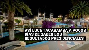 Así luce la Plaza de Tacabamba a pocos días de conocerse los resultados de la ONPE