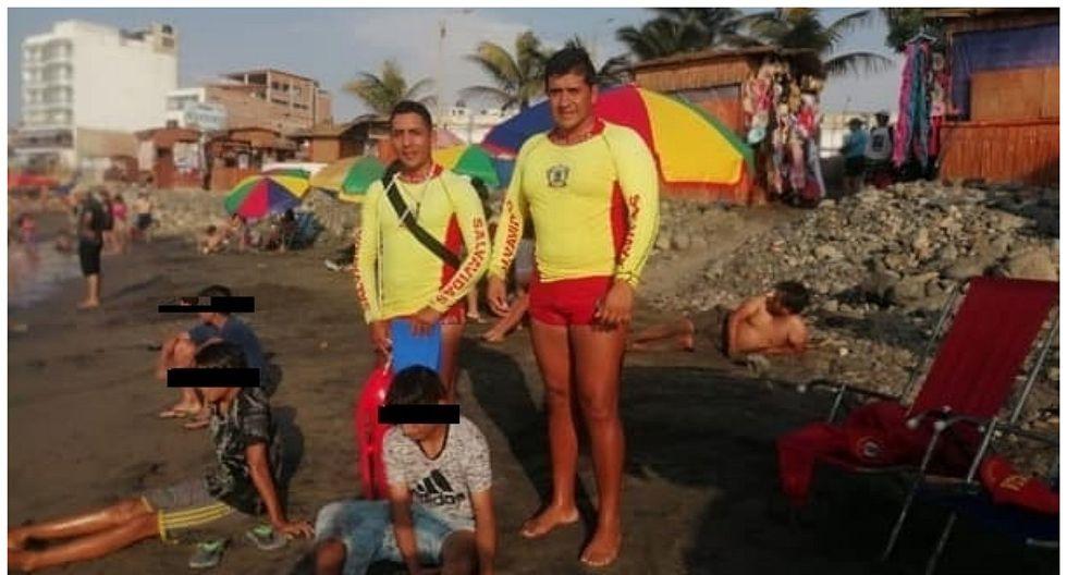 Tres menores de edad se salvaron de morir ahogados en el balneario de Huanchaco