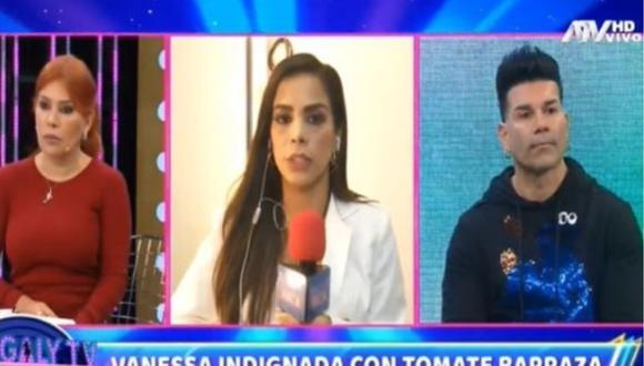 Carlos 'Tomate' Barraza dejó entrevista con Magaly Medina para no discutir con Vanessa López. (Foto: Captura de video)