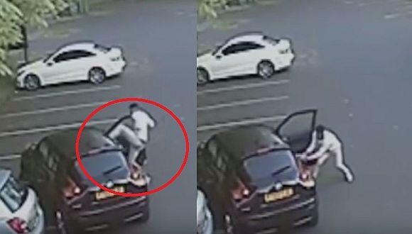 Futbolista golpea brutalmente a mujer por chocar su vehículo (VIDEO)