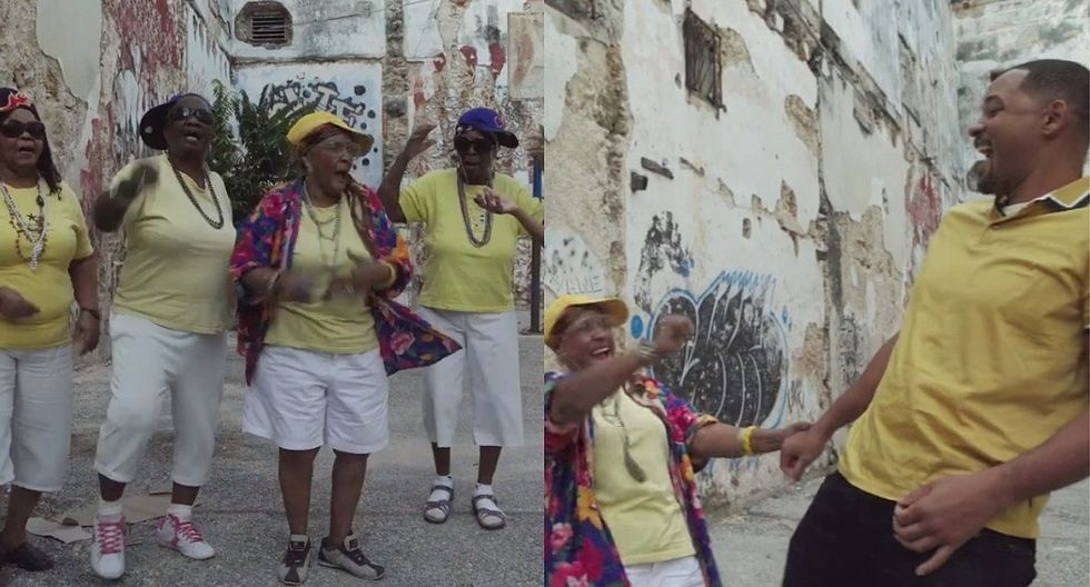 """Will Smith se luce bailando con abuelitas raperas: """"Hacemos ejercicio para el corazón"""" (VIDEO)"""
