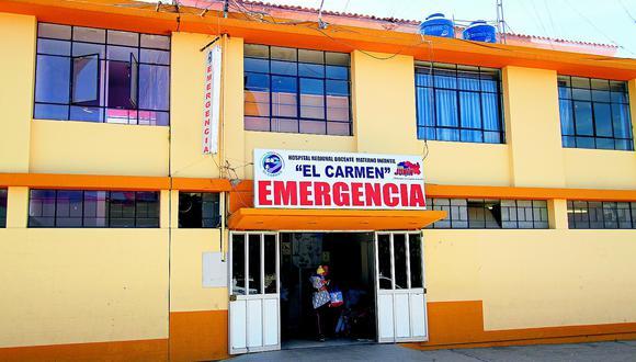 Hospital El Carmen de Huancayo solo cuenta con equipos de protección para una semana más