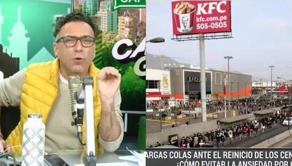 Carlos Galdón se preguntó por qué la gente acudió masivamente a los centros comerciales. (Captura Radio Capital)