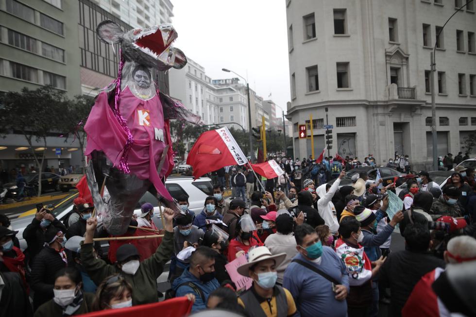 Este lunes 21 de junio, se realizó la audiencia de pedido de prisión preventiva contra Keiko Fujimori, candidata presidencial por Fuerza Popular. (Foto: Anthony Niño de Guzmán/ @photo.gec)