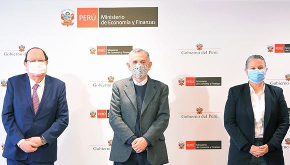 El ministro de Economía, Pedro Francke, se reunió con los titulares del BCR y de la SBS este jueves. (Foto: MEF)