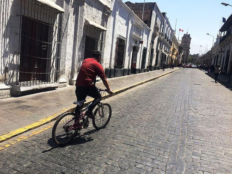 """""""Un día sin auto"""" redujo contaminación en 5% en el Centro Histórico de Arequipa (FOTOS)"""
