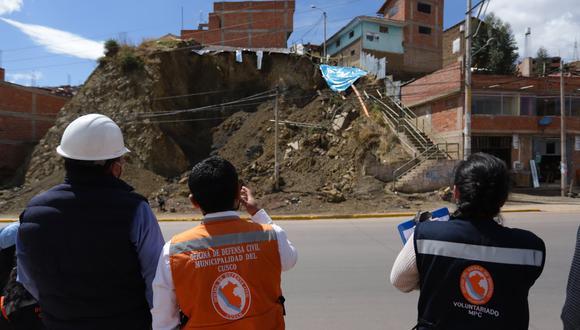 Cusco: Construcción clandestina provocó deslizamiento de tierra e hizo colapsar escaleras (Foto: Municipalidad del Cusco)