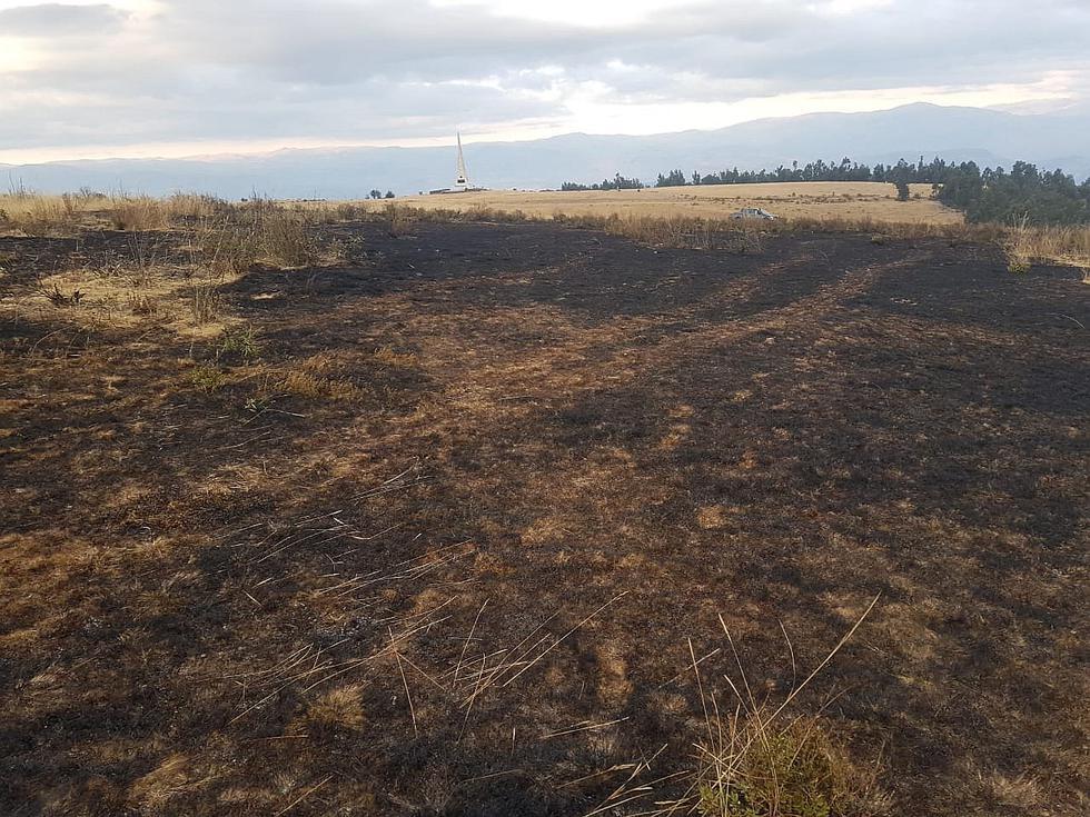 Incendio afecta Santuario Histórico de Pampa de Ayacucho