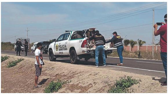 Arrollan y abandonan a un anciano en carretera Piura-Sullana