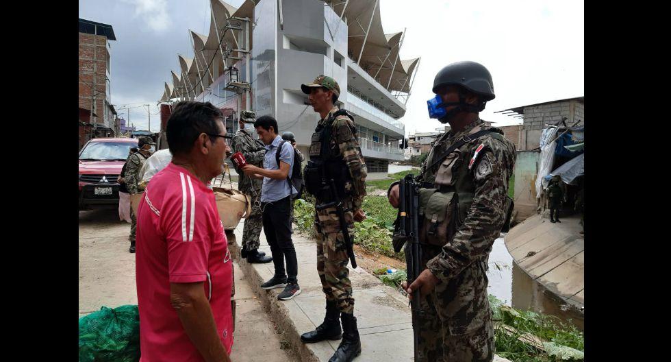 Tumbes: Tras disturbios protagonizados por comerciantes en pleno cuarentena nacional, el Ejército tomó el control en el distrito fronterizo de Aguas Verdes (Fotos: Luigi Vignolo)