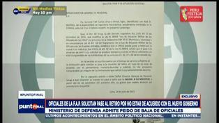 Oficiales de la FAP solicitan pase al retiro por no estar de acuerdo con el gobierno de Pedro Castillo