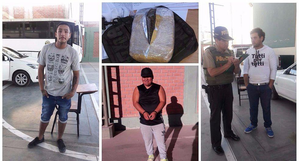 Moquegua: Abogado, obrero y carpintero caen con más de un kilo de marihuana
