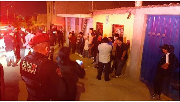 Se les encontró en fiestas sin importarles ser contagiados de COVID-19 en el Centro Poblado Alto Trujillo. Todos fueron conducidos a la dependencia policial. (Foto: Municipalidad Distrital de El Porvenir)