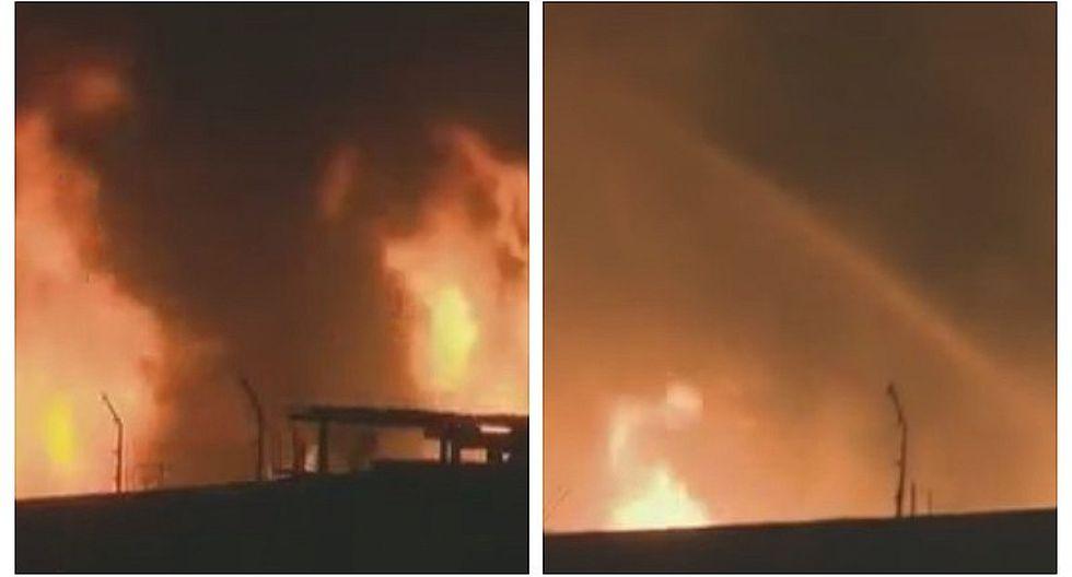 Voraz incendio consumió fábrica de velas en Chorrillos