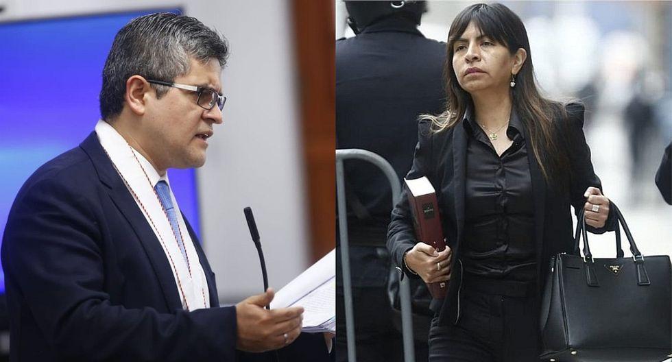 Giuliana Loza dice que fue notificada en audiencia, pero Domingo Pérez la desmiente
