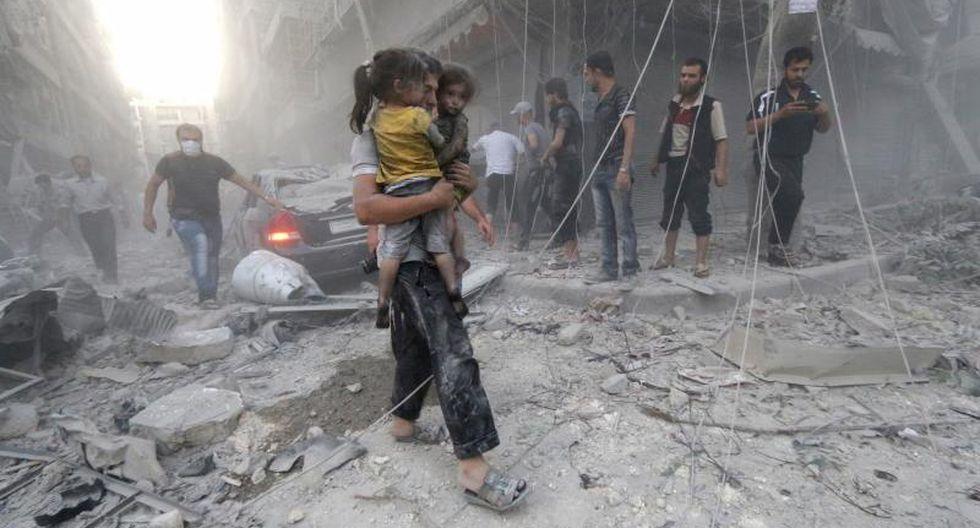 Seis menores murieron en bombardeo en Siria