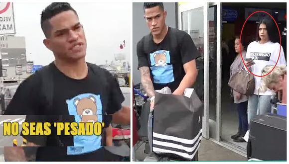 Anderson Santamaría se molesta al ser interrogado sobre su relación con ahijada de Jefferson Farfán (VIDEO)