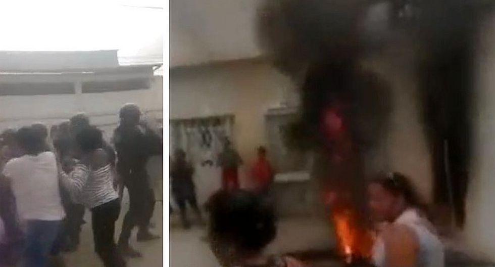 Tumbes: trabajadoras de limpieza se enfrentan a la policía por falta de pagos del Gobierno Regional (VIDEO)