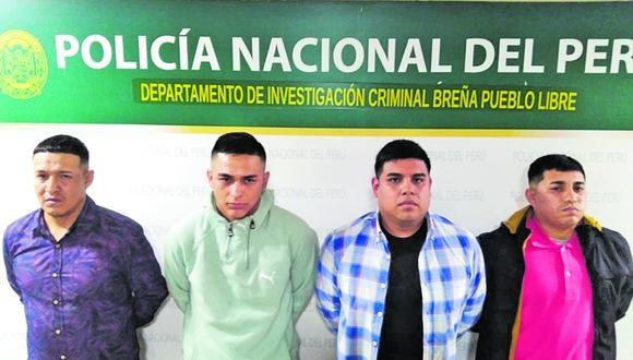 """Los """"Rápidos de Recuay"""" fueron capturados, tras asaltar a una jubilada, en Breña."""
