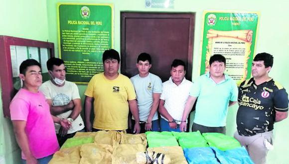 Pretendían trasladar alcaloide de cocaína desde San Ignacio, en Cajamarca,  hasta la ciudad de Chiclayo para comercializarla.