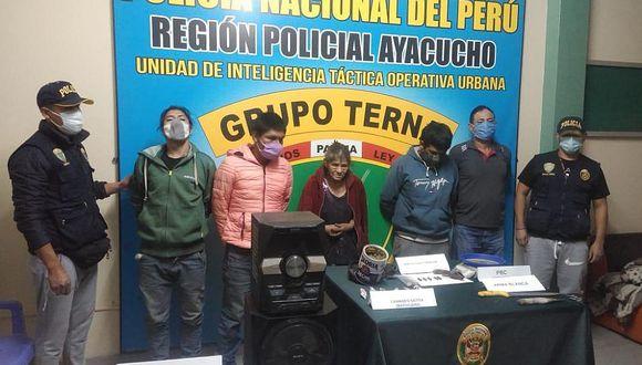 PNP interviene en flagrancia a la 'tía Maura' y su banda