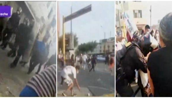 Enfrentamiento entre fiscalizadores y ambulantes deja heridos en Mesa Redonda. (Fotos: Captura Latina)