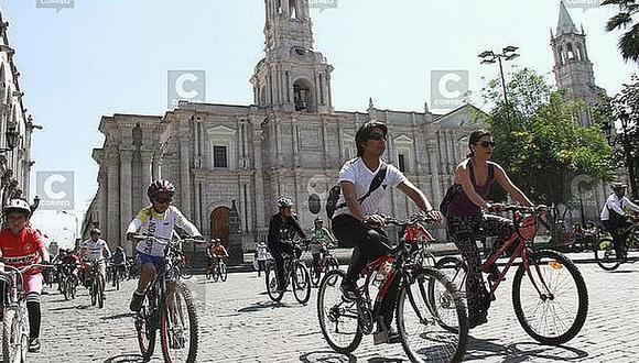 Impulsarán uso de bicicletas en Arequipa