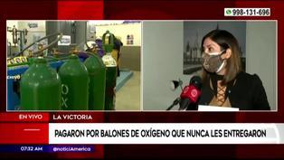 Empresa denuncia que pagaron S/150 mil por balones de oxígeno y nunca los recibieron (VIDEO)