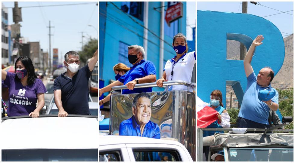 Algunos candidatos a la Presidencia del Perú realizaron caravanas para recorrer varios distritos de Lima. (Fotos: Jesus Saucedo / @photo.gec - Difusión)
