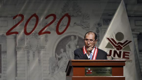 Presidente del JNE, Víctor Ticona, también pidió la restitución del voto de los peruanos residentes en el extranjero. (Foto: César Campos / GEC)