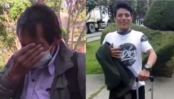 Padre de joven llorando por lo que le ocurrió a su hijo. | Foto: Latina - Facebook