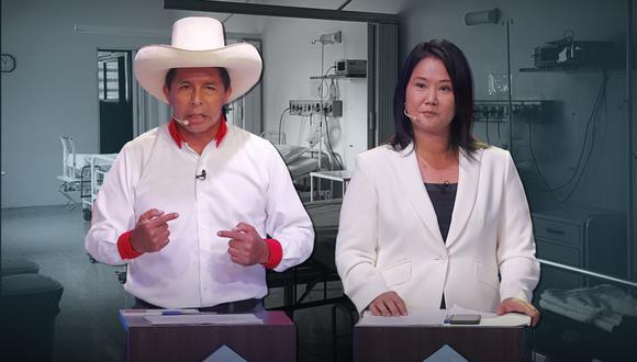 """""""Hemos dejado constancia que queremos participar de todos los debates, en el caso de Perú Libre, ellos han señalado que consideran suficiente un solo debate presidencial"""", señaló Galarreta. (Foto: Composición GEC)"""