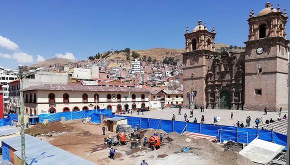 Retraso en proyecto de la Plaza de Armas de Puno