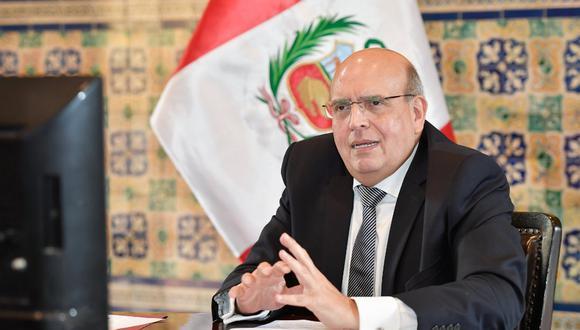 Canciller Mario López calificó como histórico plebiscito chileno. (Foto: Ministerio de Relaciones Exteriores)