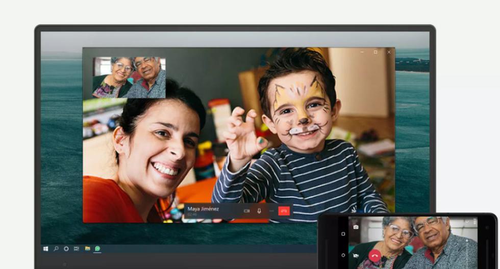 WhatsApp indicó que las llamadas de voz y las videollamadas son gratuitas desde el escritorio si el usuario tiene la app instalada en el ordenador y está conectado a la red WiFi  (Foto: Captura/WhatsApp).
