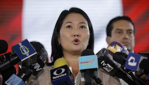 Keiko Fujimori, candidata presidencial por el partido político de Fuerza Popular. Foto: Joel Alonzo/ @photo.gec