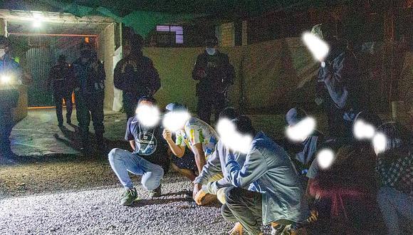 Los adolescentes intervenidos por la Policía Nacional del Perú (PNP) por celebrar fiesta en pleno estado de emergencia.