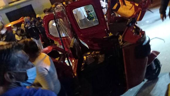 Choque entre patrullero y mototaxi deja dos muertos en Chincha