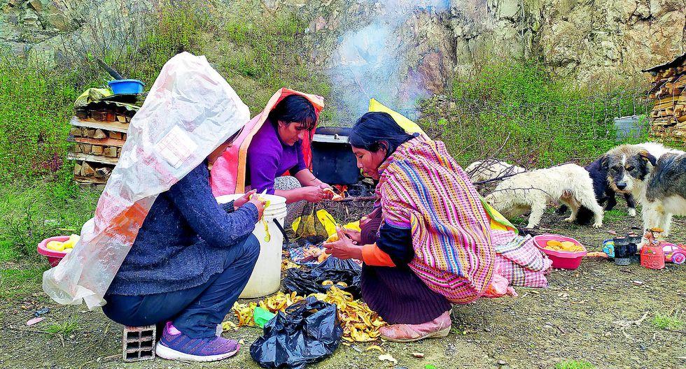 La vida en los cerros de Huancayo donde se comen solo dos o tres veces por semana
