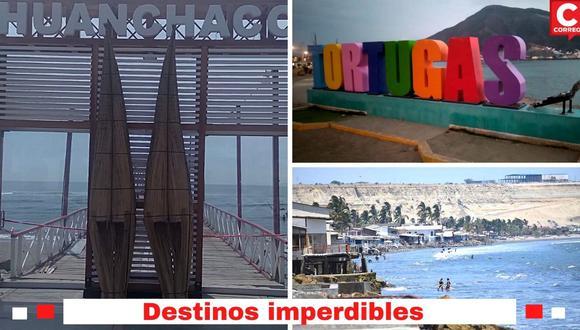 En Trujillo, Piura y Áncash hay hermosos balnearios donde se pueden pasar momentos de diversión y encuentro con la naturaleza.