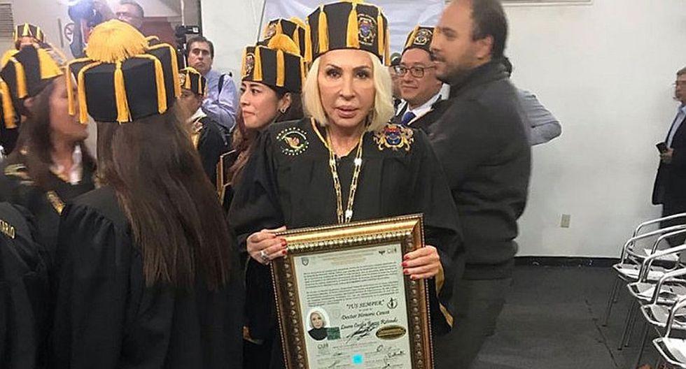 Grupo parlamentario mexicano rechazó entrega de Doctorado Honoris Causa de Laura Bozzo