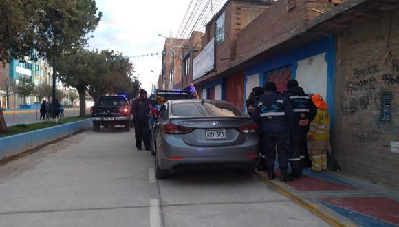 El efectivo policial conducía el auto Hyundai de color plomo, con placa de rodaje AMX-378. (Foto: Difusión)
