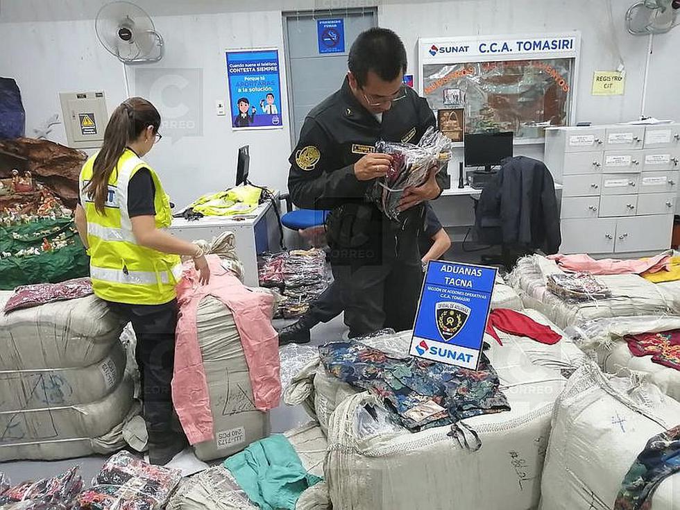 Incautan contrabando valorizado en S/ 90 mil