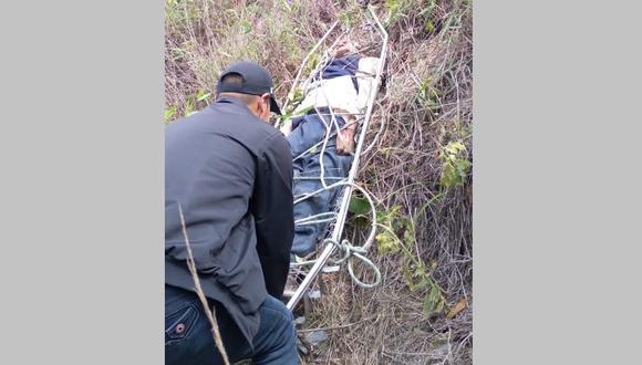 El cuerpo inerte fue trasladado e internado en la morgue de la provincia de Sandia. (Foto: Difusión)