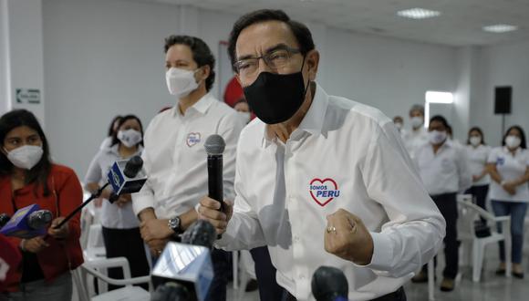 La lista de candidatos al Congreso encabezada por Martín Vizcarra fue admitida por el JEE de Lima Centro 2. (Foto: Miguel Yovera/El Comercio)
