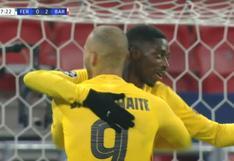 Barcelona vs. Ferencvaros: Ousmane Dembélé anota de penal para el 3-0 azulgrana (VIDEO)